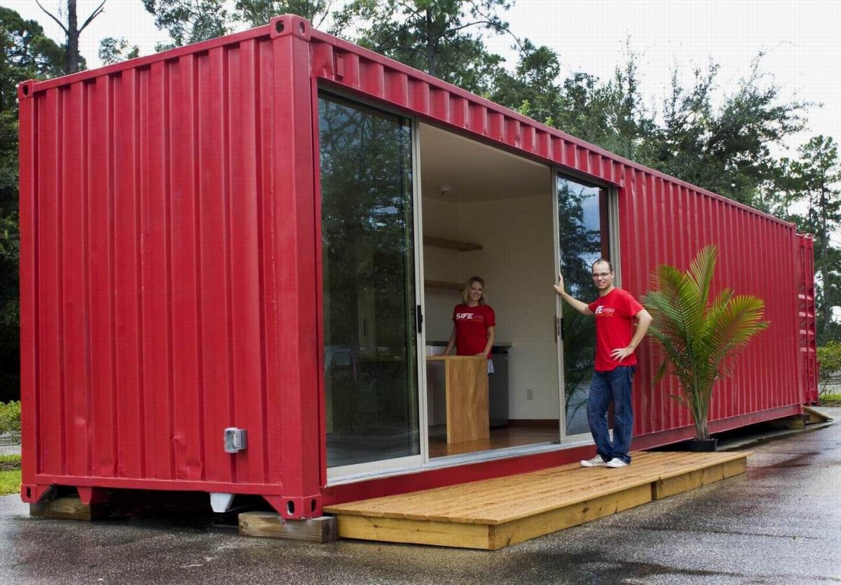 Used 40 shipping storage container for sale 1695 - 40ft shipping container home ...
